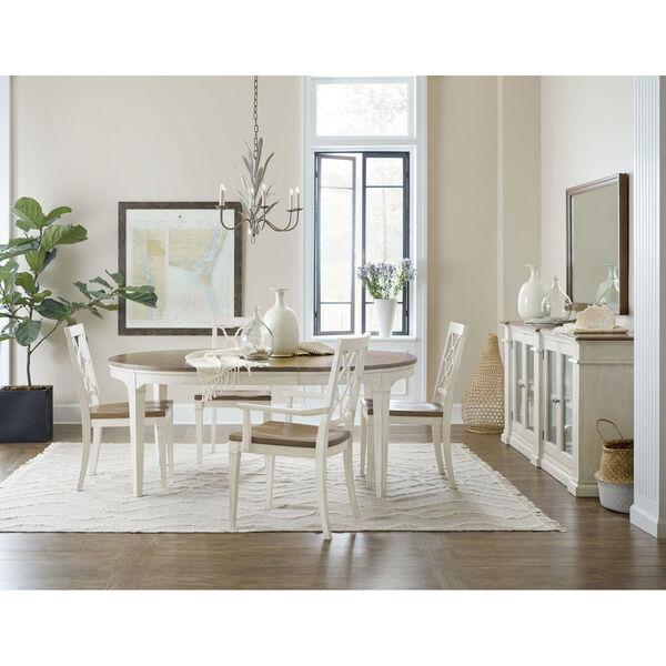 Montebello Danish White and Carob Brown Side Chair, image 6
