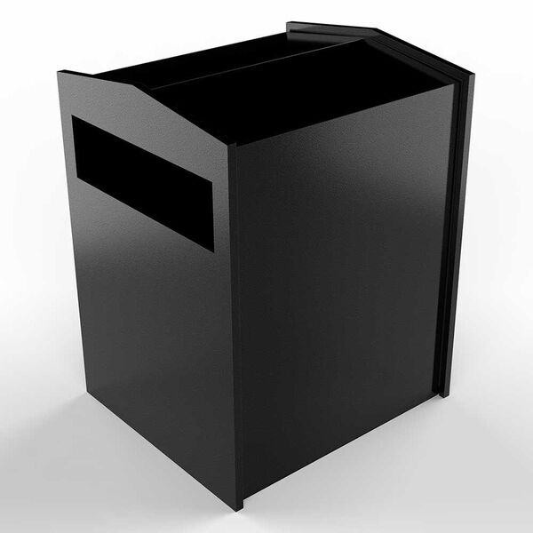 Letta safe Black 11-Inch Wall or Column Mount Mailbox, image 2