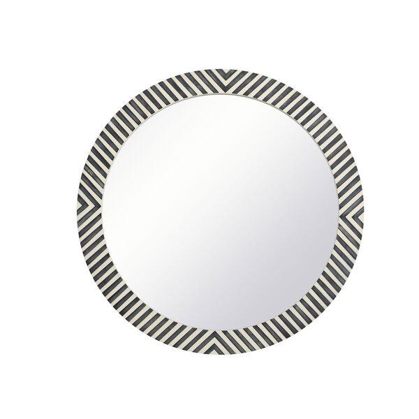 Colette Chevron 32-Inch Round Mirror, image 1