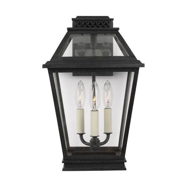 Falmouth Dark Weathered Zinc Three-Light Outdoor Wall Sconce, image 1
