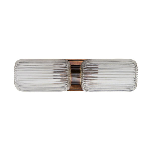 Tamber Heritage Brass Two-Light Wall Sconce, image 3