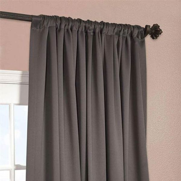 Charcoal 96 x 100-Inch Double Wide Blackout Curtain Single Panel, image 4