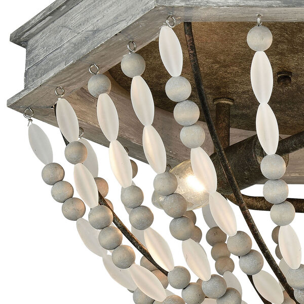 Summerton Washed Gray and Malted Rust Three-Light Flush Mount, image 2