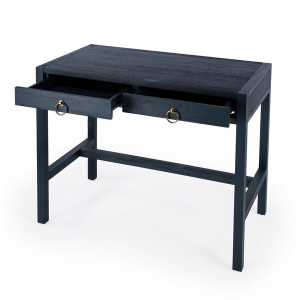 Lark Blue Desk with Two Drawers, image 2