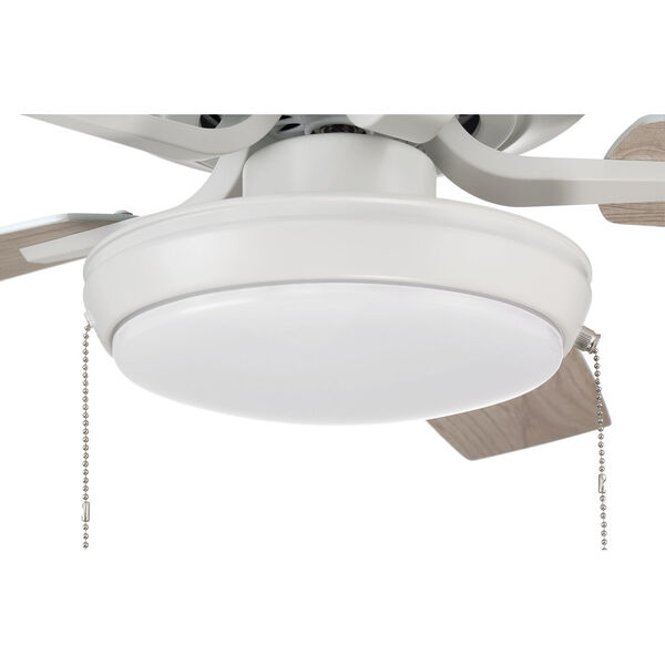 Pro Plus White 52-Inch LED Ceiling Fan with Frost Acrylic Pan Shade, image 7