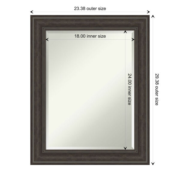 Shipwreck Gray 23W X 29H-Inch Bathroom Vanity Wall Mirror, image 6