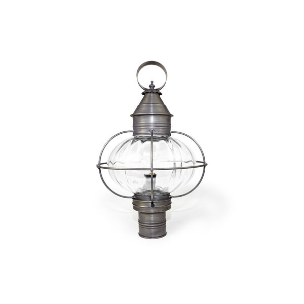 Onion Dark Brass One-Light Outdoor Post Mount with Optic Glass, image 2