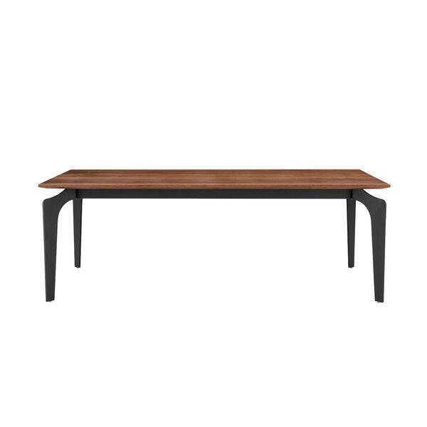 Brighton Walnut and Black 52-Inch Coffee Table, image 1