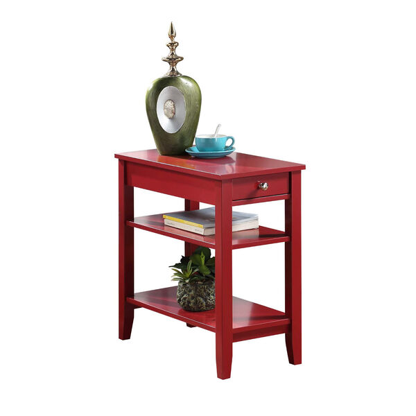 American Heritage Three Tier End Table With Drawer, image 2
