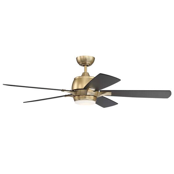 Stellar Satin Brass Led 52-Inch Ceiling Fan, image 1