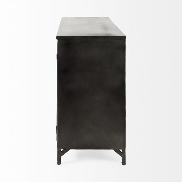 Poppy III Black Cabinet with Glass Door, image 4