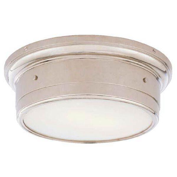 Large Chrome Siena Flush Mount Ceiling Light, image 1