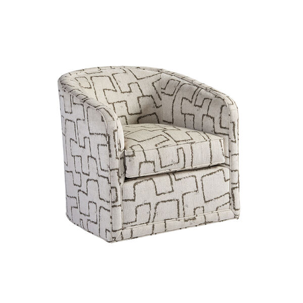 Los Altos Ivory Colton Swivel Chair, image 1