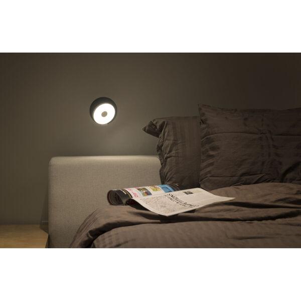 Gravy Metallic Black Silver LED Hardwire Wall Sconce, image 3