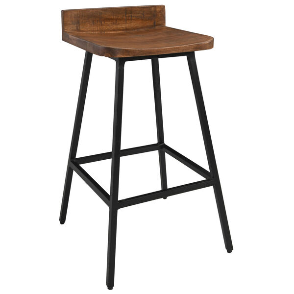 Pennie Caramel Brown and Black Counterstool, image 1
