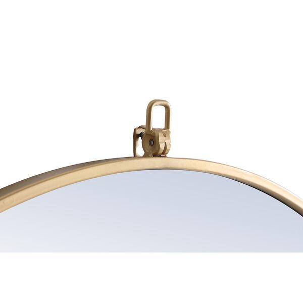 Eternity Brass Round 32-Inch Mirror with Hook, image 6