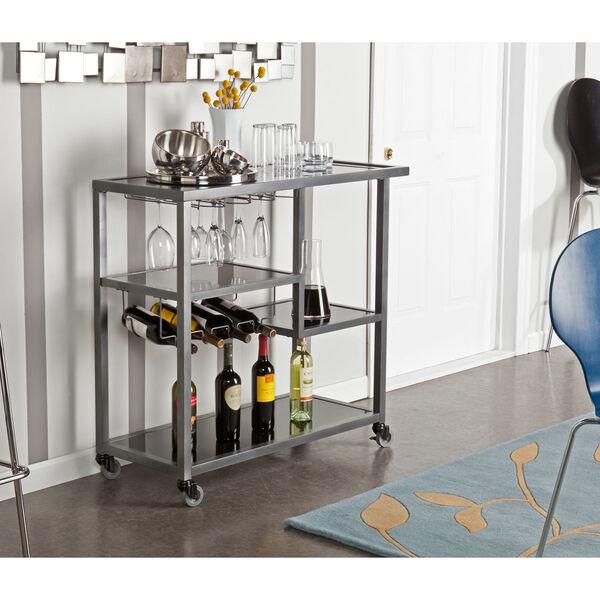 Zephs Gray and Black Bar Cart, image 4