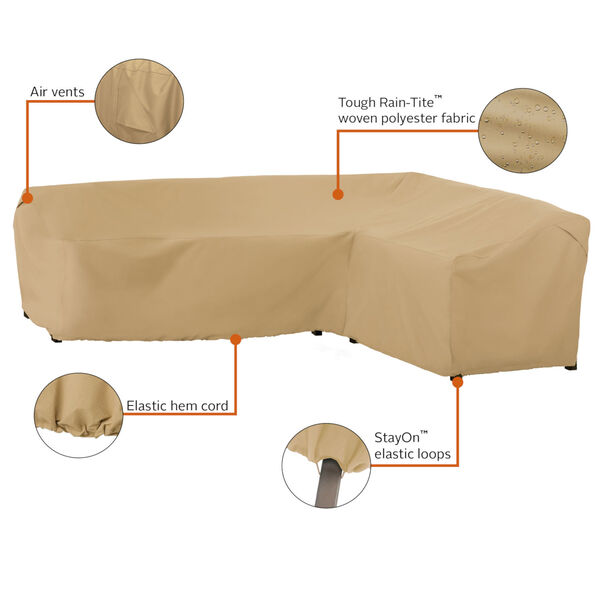 Palm Sand Patio Right Facing Sectional Lounge Set Cover, image 2