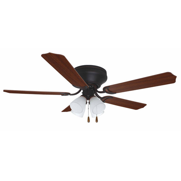 Brilliante Oil Rubbed Bronze 52 Inch Blade Span Ceiling Fan, Blades And Light Kit, image 1