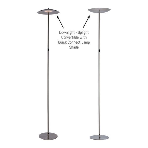 Torin Brushed Nickel LED Floor Lamp, image 4