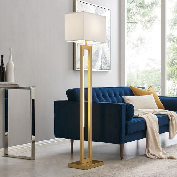Darrello Gold LED Floor Lamp, image 3