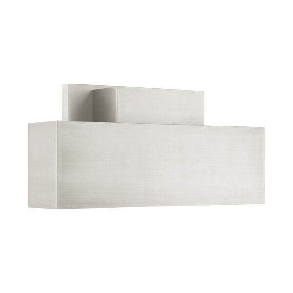 Lynx Brushed Nickel Two-Light Outdoor ADA Wall Sconce, image 4