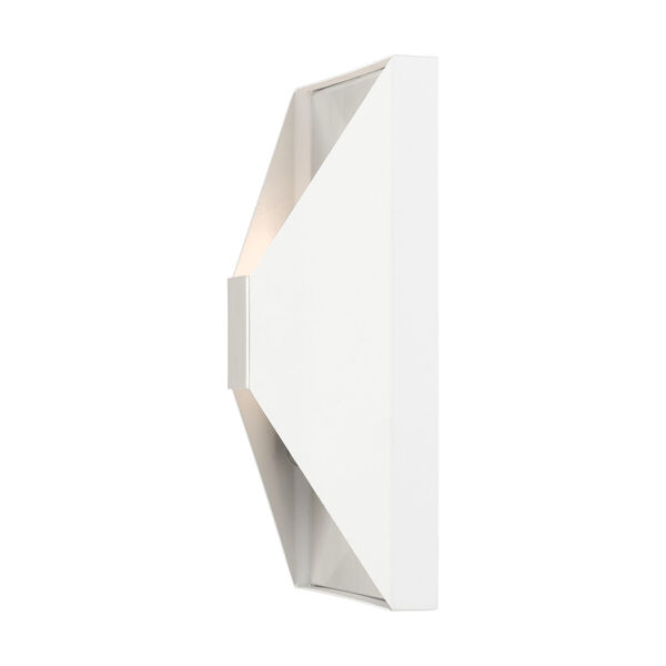 Lexford Textured White Two-Light ADA Wall Sconce, image 6
