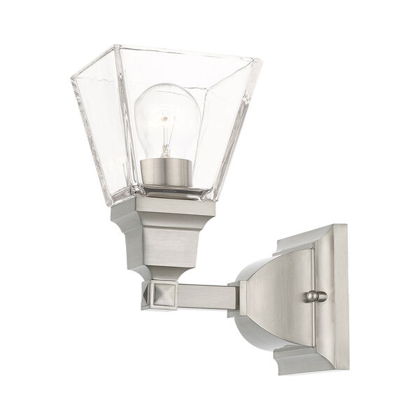 Mission Brushed Nickel One-Light Wall Sconce, image 5