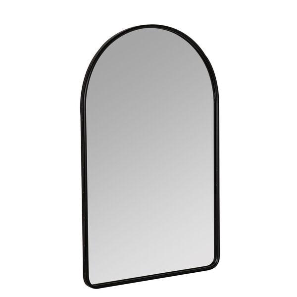 Sebastian Black 38-Inch Arched Wall Mirror, image 3