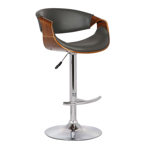 Butterfly Walnut and Gray 33-Inch Bar Stool, image 1