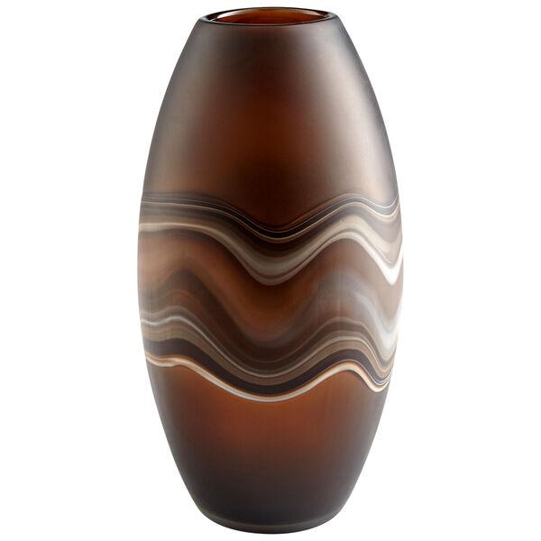 Amber Swirl 8-Inch Nina Vase, image 1