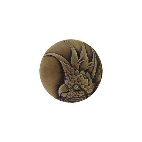 Antique Brass Large Cockatoo Knob-Right , image 1