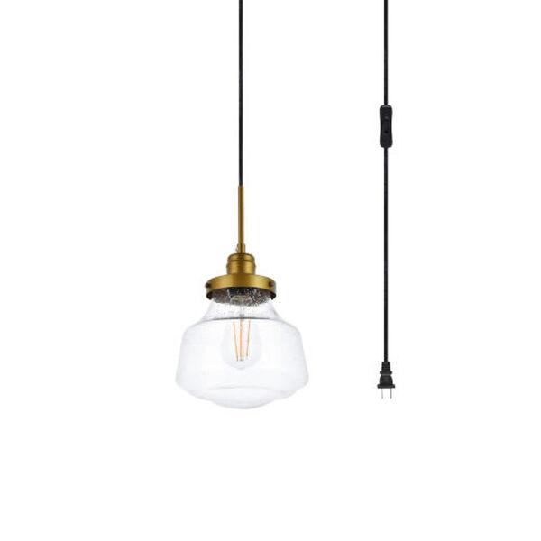 Lye Brass One-Light Plug-In Pendant, image 3