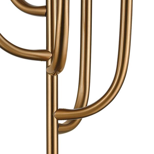 Aged Brass Six-Light Floor Lamp, image 3