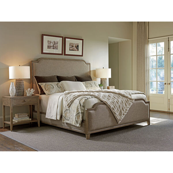 Cypress Point Gray Stone Harbour Upholstered Bed, image 2