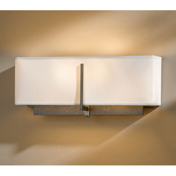 Exos Dark Smoke Two-Light Wall Sconce with Natural Anna Shade, image 1
