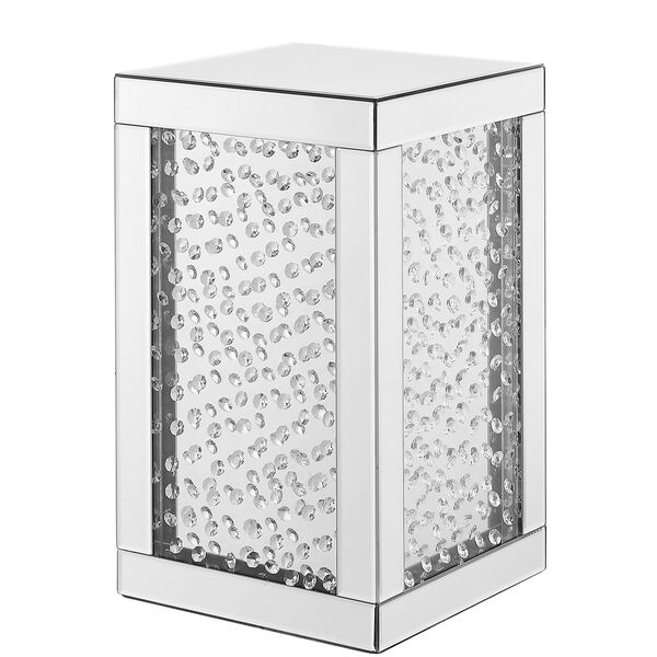 Modern Mirrored 20-Inch Crystal End Table, image 3