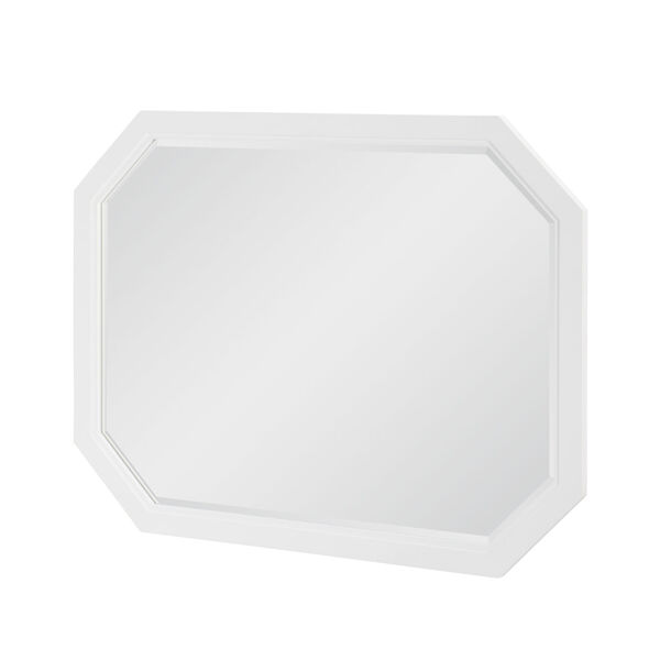 Chelsea by Rachael Ray White with Gold Accents Bedroom Mirror, image 1