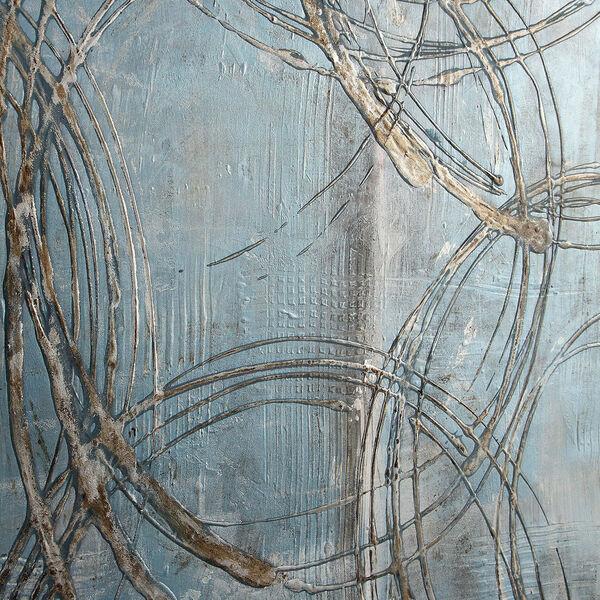 Interlock Blue Modern Art, image 5