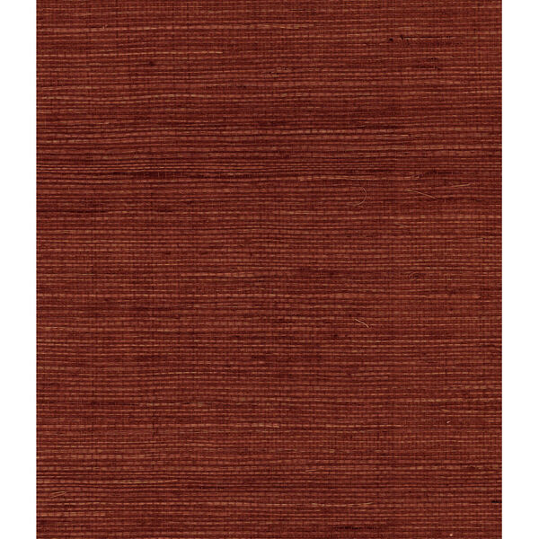 Lillian August Luxe Retreat Cabernet Sisal Grasscloth Unpasted Wallpaper, image 1