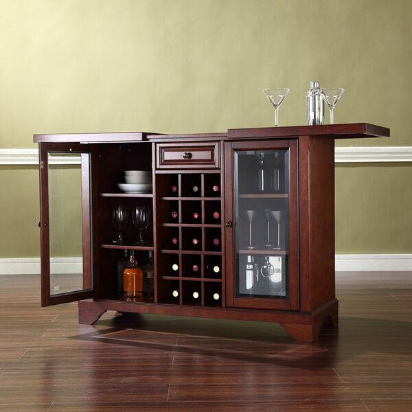 LaFayette Sliding Top Bar Cabinet in Vintage Mahogany Finish, image 4