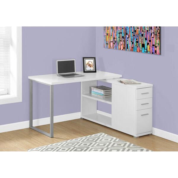 White Computer Desk, image 1