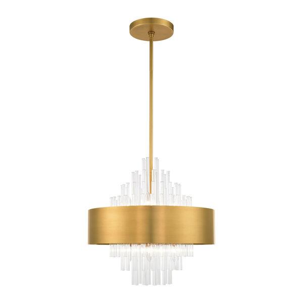 Orenburg Natural Brass Eight-Light Pendant, image 1