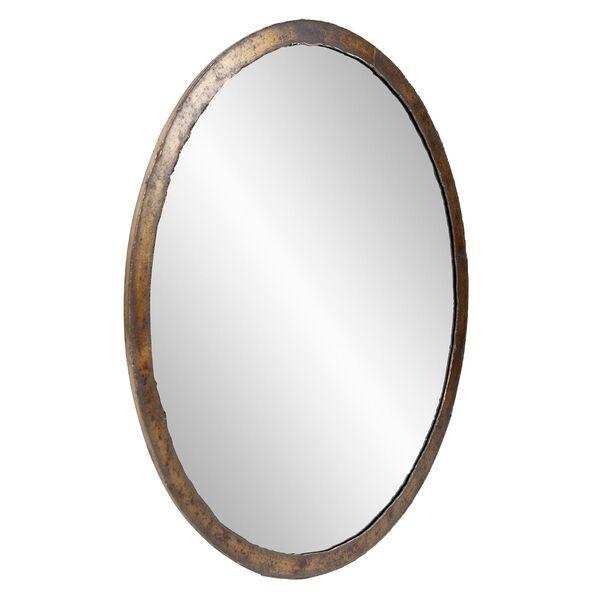 Marius Acid Treated Round Wall Mirror, image 2