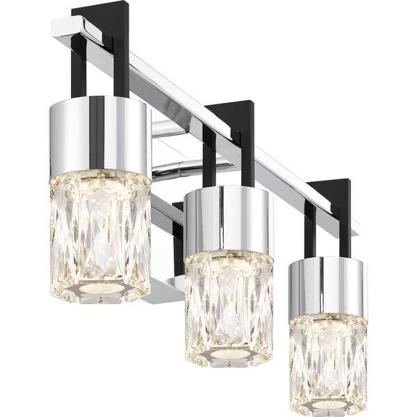 Adena Polished Chrome Three-Light LED Bath Vanity, image 4