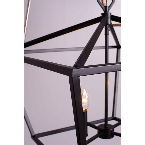 Kenwood Matte Black 12-Inch Four-Light Lantern Pendant, image 2