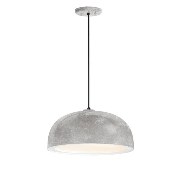 Dome Galvanized One-Light 14-Inch Outdoor Pendant, image 1