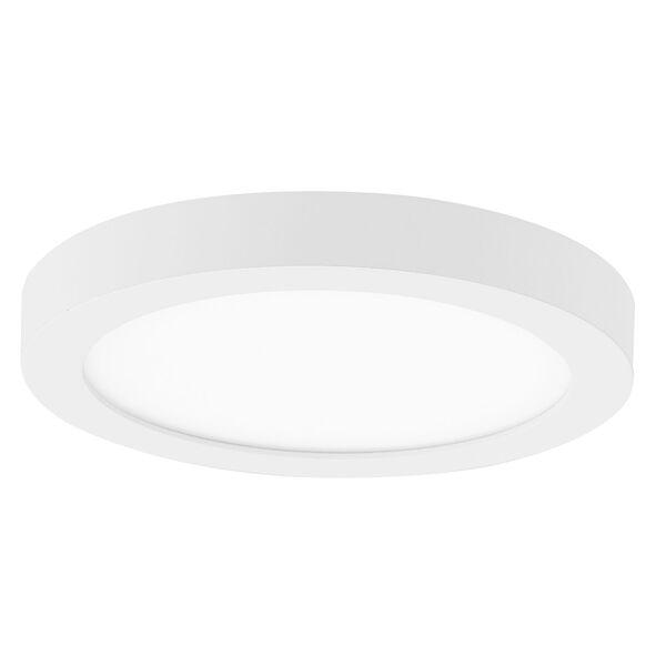 Eight-Inch White LED Round Flush Mount, image 1