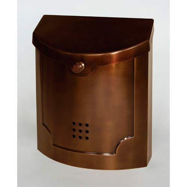 Antique Copper Brass Mailbox, image 1