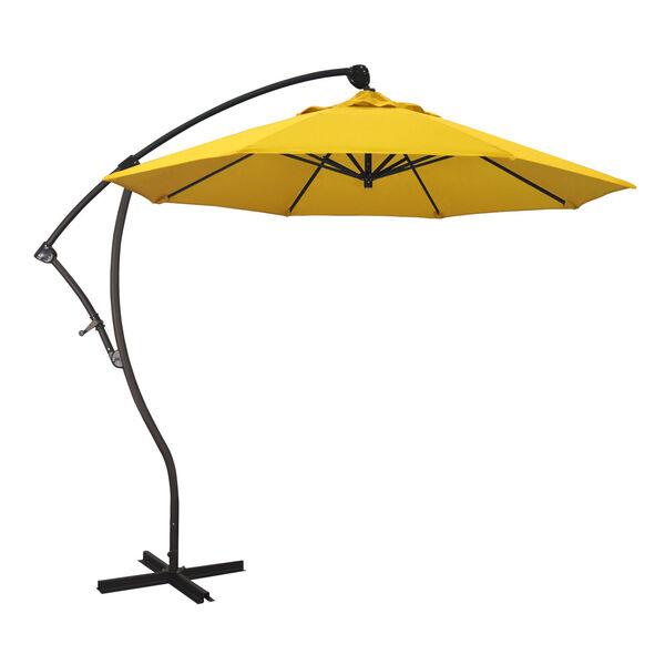 Bayside Bronze with Sunflower Yellow Nine-Feet Sunbrella Patio Umbrella, image 1